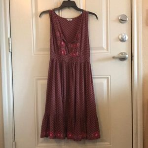 Fossil embroidered dress